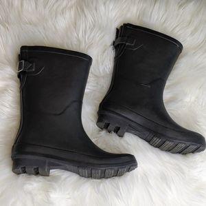 A New Day Black Rainboots